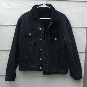 BRAND NEW ( WOT ) Fur Jean Jacket 🖤